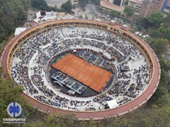 Cancha de Tenis construída por Civideportes