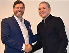 Olaf Schmidt, Vicepresidente de Textiles y Tecnologías Textiles de Messe Frankfurt y Carlos Botero Hoyos, Presidente Ejecutivo de Inexmoda